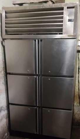 6 door steel refrigerator