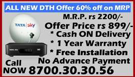 New Connection Tata sky, Dishtv, Airteltv Tata sky SD HD Airtel DTH
