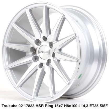 yang baru TSUKUBA 02 17883 HSR R15X7 H8X100-114,3 ET35 SMF 0