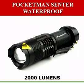 Senter Mini Pocketman 2000Lumen Waterproof