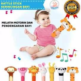 Original Mainan Rattle Stick Genggam Bunyi  untuk Bayi lucu karakter