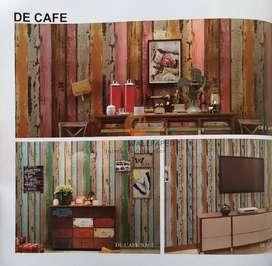 Wallpaper Dinding PREMIUM Motif Kayu Warna De Cafe 11