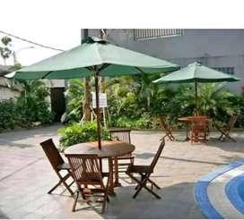 Meja cafe,meja payung jati,kursi taman,meja taman jati