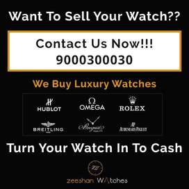 We buy&collect luxury watches