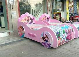 Barbie Single Car Bed/ New Design Girls Bed/ New Bed