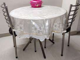 Round Glass dining table in jaipur