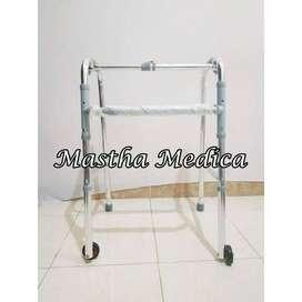Walker Dengan Roda Alat Bantu Penderita Stroke
