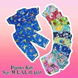 Piyama Anak KIDS Motif Size M, L, XL
