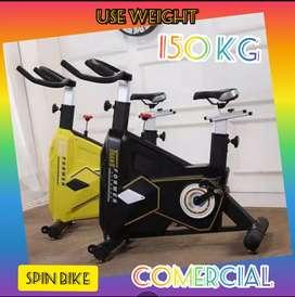 alat fitnes sepeda statis spin bike transformer komersial bergaransi