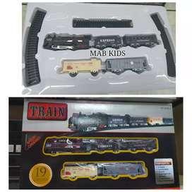Mainan kereta api anak pake batre