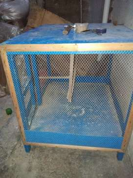 Cage for hen and parrot