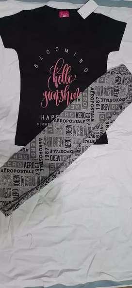திருப்பூர் female night dress cotton set of 1 Rs.250 (T-shirt+ pant)