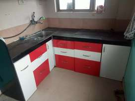 1BHK KITCHEN TROLLEYS SEMIFURNISHED AVAILABLE OLD SANGVI 4TH FLOOR