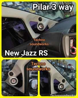 Pilar new jazz RS 3 way speaker tiang for paket sound tv isi 2 pcs