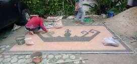 Menerima jasa pembuatan taman dan batu sikat