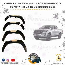 Toyota Hilux Revo Rocco 2021 Fender Flares Wheel Arch Trims Mate Black