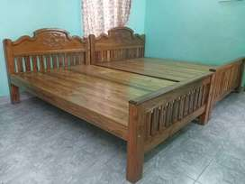 Cots are made with quality  teak