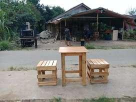 Meja kursi cafe warkop kayu cantik