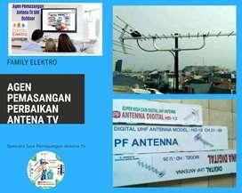 Tukang workshop pasang servis antena tv chanel banyak