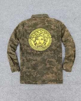 Parka camo Medusa jacket jaket like versace