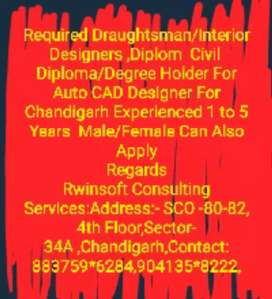 Required Architecture ,Draughtsman,Civil Diploma For Auto CAD
