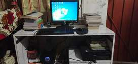 Lcd,cpu, keyboard,mouse,speaker, computer table ,web cam,  & its cable