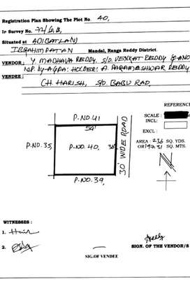 Semi Commercial LRS Approved plot near TCS Building