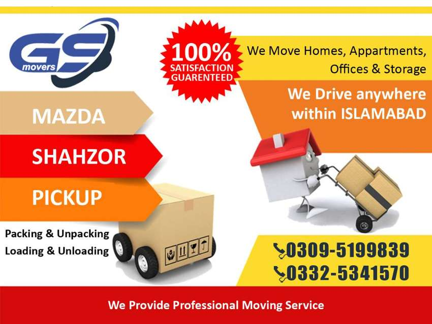 Movers & Packers - home shifting service truck shazor for ghr shifting