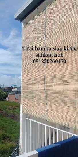 Tirai bambu bermacam ukuran