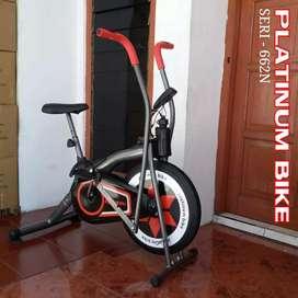 New sepeda fitnes Platinum bike dua fungsi cocok k olahraga dirumah