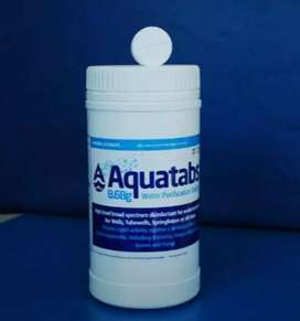 Chlorine tablets aquatabs for water cleaning