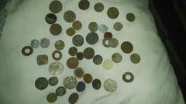 Old Antique Coins Different Countries