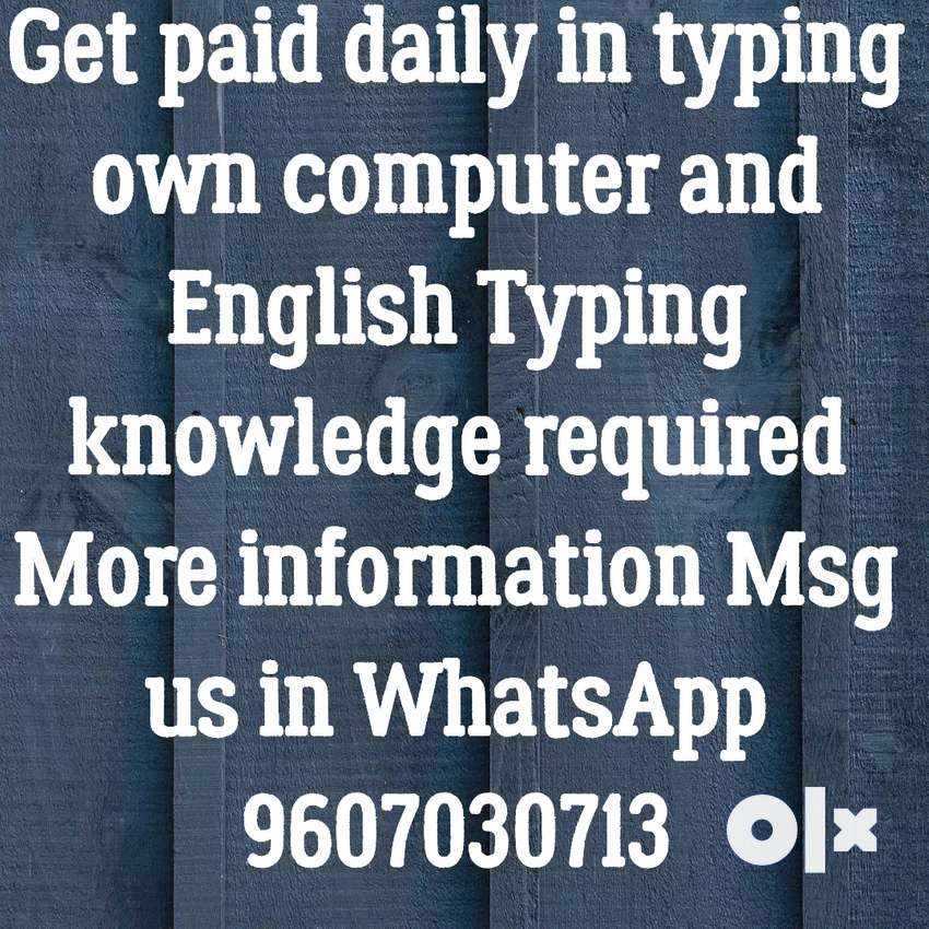 Simple typing work daily payment 0