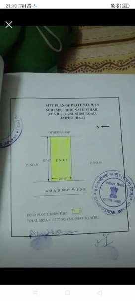 Plot in Shri Nath vihar, Gandhi Path W