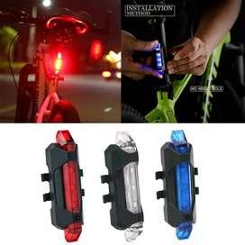 Lampu belakang sepeda led dengan usb bisa charge
