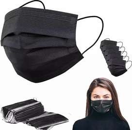 Surgical Face Mask Black /70GSM pack of 10.