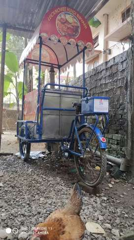 Tricycle for street food selling.