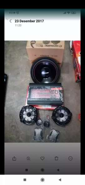 Paket sound lengkap Acoustic siap pasang (megah top )
