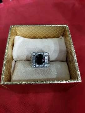 Cincin Eropa Pria Berlian Black Diamond Besar Kode 009