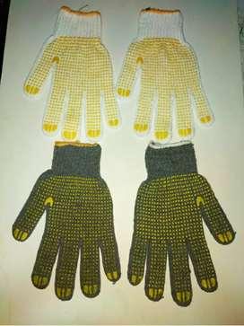Sarung tangan bintik dotting Abu Abu dan putih
