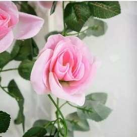 MONUMONU Mawar Tangkai Panjang Bunga Artificial
