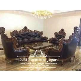 Kursi sofa tamu mewah jati ukiran asli jepara jumbo furniture klasik