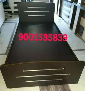 New full size hostel bed  / single bed with designer side