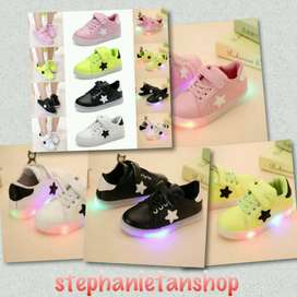 IC14-four colors kids boys&girls LED casual stars sneakers