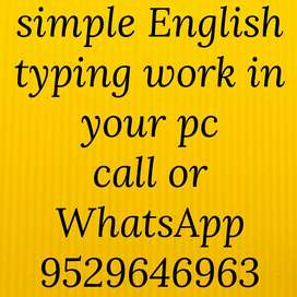 Unlimited earning opportunity in typing work