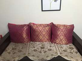 Branded Sofa Set 7 Seater Teak glow polish.