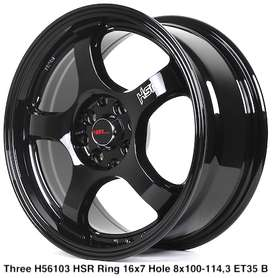 Toko velg THREE 56103 HSR R16X7 H8X100-114,3 ET40 BLACK
