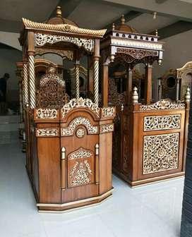 Mimbar masjid agung kayu jati 82729