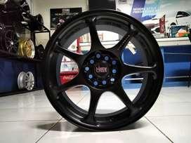 Velg Mobil Kijang Innova Ring 16 HSR Wheel Warna Hitam