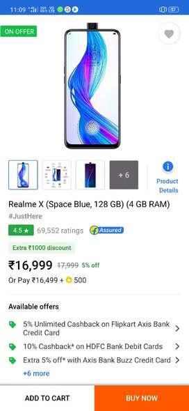 Realme X 4+64 2 months space blue